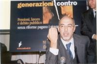 """Natale D'Amico (sen. Margherita, iscritto a Radicali Italiani) partecipa al convegno: """"Generazioni contro - Pensioni, lavoro, debito pubblico"""", promos"""