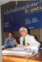 """Franco Debenedetti (senatore) partecipa all convegno: """"Globalizzazione? Sì, grazie"""", promosso dai Radicali Italiani e dal Parlamento Europeo."""