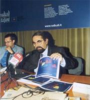 """Mario Baldassarri (economista) partecipa al convegno: """"Globalizzazione? Sì, grazie"""", promosso dai Radicali Italiano e dal Parlamento Europeo."""