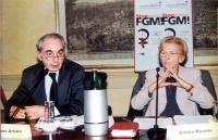 """Convegno contro le mutilazioni genitali femminili, intitolato: """"Stop FGM!"""". Alla presidenza, il Presidente del Consiglio Giuliano Amato ed Emma Bonino"""