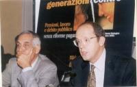 Nicola Sartor  (Ordinario di Scienze delle Finanze - Università di Verona) - in primo piano - e Giuseppe Pennisi (docente scuola superiore PA) parteci