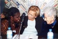 """Conferenza stampa di presentazione del convegno contro le mutilazioni genitali femminili, intitolato """"Stop FGM!"""". Al tavolo, da sinistra: Kady Koita -"""