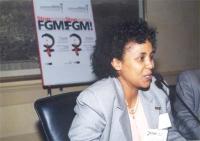 """Maryan Ismail, presidente """"Associazione Mamme e Bimbi somali"""", partecipa al convegno """"Stop FGM"""", contro le mutilazioni genitali femminili."""