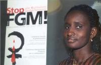 """Kady Koita, formatrice, presidente della Rete per la prevenzione delle mutilazioni genitali femminili in Europa, partecipa al convegno: """"Stop FGM""""."""
