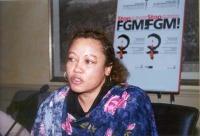 """Leyla Sheikh (Tanzania Media Women's Association), partecipa al convegno: """"Stop FGM"""", contro le mutilazioni genitali femminili."""