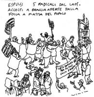 """VIGNETTA La vignetta di Vincino, uscita su """"Il Foglio"""", si riferisce alla liberazione di cinque esponenti del Partito Radicale Transnazionale, arresta"""