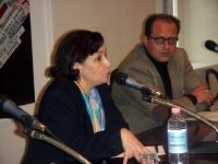 Conferenza stampa presso la Sala Stampa Estera, della dissidente tunisina Sihem Ben Sèdrine (giornalista, portavoce del CNLT - Consiglio Nazionale per