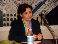 Ritratto della dissidente tunisina Sihem Ben Sèdrine (giornalista, portavoce del CNLT - Consiglio Nazionale per la Libertà in Tunisia), in occasione d