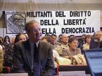 Valter Veltroni, sindaco di Roma, partecipa alla conferenza di presentazione del satyagraha mondiale, promosso dal PR, per una qualificata partecipazi