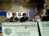 """Assemblea """"Libertà e democrazia per il Laos"""", promossa dall'Associazione per l'iniziativa radicale Andrea Tamburi. Primo a sinistra: Massimo Lensi. Al"""