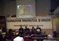 Conferenza stampa presso la sede dei Radicali Italiani, a sostegno della clonazione terapeutica. Da sinistra: Benedetto Della Vedova, Daniele Capezzon