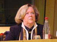 Mme Anne Marie LIZIN, Sénateur, ancien Ministre (in occasione della conferenza stampa di presentazione del satyagraha mondiale promosso dai radicali).