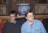 Arrivo a Ciampino dei cinque esponenti del PR, arrestati per 15 giorni nel Laos. Olivier Dupuis e Nikolaj Khramov.