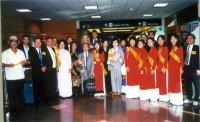 Accoglienza di Olivier Dupuis all'aeroporto di San José (California), in occasione della cerimonia-happening per festeggiare la sua azione di disobbed