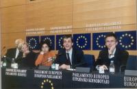 Conferenza stampa al Parlamento Europeo Marco Pannella, Emma Bonino, Silvja Manzi, Olivier Dupuis, François Zimeray (eurodeputato socialista, avvocato