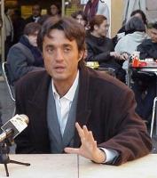 Il regista Giulio Base, in occasione della presentazione del manifesto Pro-Global dei Radicali italiani.