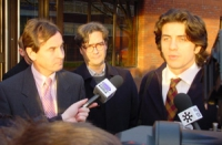 Chris Davies - eurodeputato liberaldemocratico inglese - Marco Cappato e Maurizio Turco - eurodeputati radicali - incontrano la stampa davanti a Magis