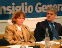 Consiglio Federale del PR. Ermelinda Meksi (ministro albanese per gli Affari economici) e Pandeli Majko, ministro della Difesa albanese.