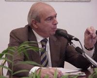 Gianfranco Spadaccia, durante un convegno in occasione della giornata anticlericale, organizzata dai Radicali Italiani.