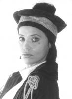 riratto di Rosa Fumetto. Primo piano stretto. Indossa una toga e il cappello da magistrato  (BN) 652 bis