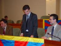 Assemblea costitutiva dell'associazione dei comuni italiani per il Tibet. Gianni Vernetti, coordinatore dell'integruppo Tibet al Parlamento Italianot;