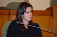 Sara Battistini, Amnesty International, partecipa all'assemblea costitutiva dell'associazione dei comuni italiani per il Tibet.