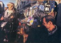 Emma Bonino presso un bazaar tipico della città.