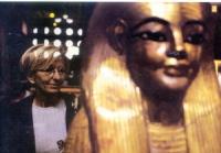 Emma Bonino al museo del Cairo.