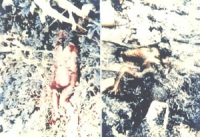 I corpi di due vittime in Laos.