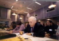 Conferenza di Amsterdam per il tribunale penale internazionale. Antonio Cassese, presidente del tribunale ad hoc per la ex-Jugoslavia.