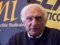 Marco Pannella, al terzo giorno di sciopero della sete, nel corso di una conferenza stampa.