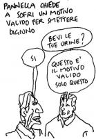 VIGNETTA La vignetta di Vincino (apparsa sul quotidiano Il Foglio) si riferisce allo sciopero della sete di Marco Pannella perchè sia ricostituito il