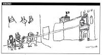 """VIGNETTA Vignetta di Vincino (apparsa sul """"Corriere della sera""""), a proposito dello sciopero della sete di Marco Pannella (cui si è associato il deput"""