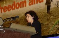 Sihem Bensedrine, giornalista, dissidente tunisina, ospite del 38° Congresso del PR.