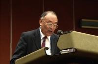 Erkin Alptekin, segretario generale dell'UNPO (Unrepresented Nations and Peoples Organisation), ospite del 38° Congresso del PR. (Altri ritratti nel C
