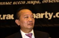 Il principe Bouavong Kattygnarath, membro e consigliere speciale della famiglia reale (Laos), ospite del 38° Congresso del PR.