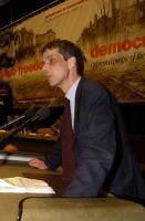 Olivier Dupuis alla tribuna del 38° Congresso del PR.