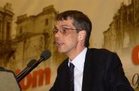 Olivier Dupuis, parla nel corso del 38° Congresso del PR.