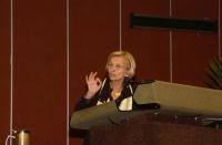 Emma Bonino alla tribuna del 38° Congresso del PR.