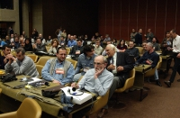 38° Congresso del PR. Un settore della platea, con Giorgio Inzani, Marco Pannella, Matteo Angioli.