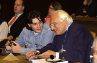 Marco Pannella e Matteo Angioli, al 38° Congresso del PR.