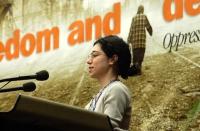 Silvja Manzi alla tribuna del 38° Congresso del PR.