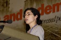 Silvja Manzi, alla tribuna del 38° Congresso del PR.