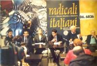 Conferenza stampa presso la sede di Torre Argentina, con (da sinistra): Michele De Lucia, Marco Beltrandi, Rita Bernardini, Daniele Capezzone, Marco P