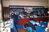 Comitato nazionale dei Radicali Italiani all'hotel Ergife. Alla tribuna: Daniele Capezzone. Al tavolo di presidenza, da sinistra: Marco Beltrandi, Rit