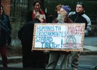 Intervento alla manifestazione del TSG (gruppo di sostegno al Tibet) del rappresentante del Dalai Lama a Budapest, Sonam Tenzing.