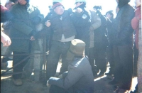 Many ethnic Mongolian herders were beaten up and arrested by  the police during the displacement in eastern Inner Mongolia's Bagarin  Right Banner.