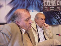 Odar Gabashvili  (storico e giornalista, già viceministro degli Esteri per il governo Gansakurdia) e Gianfranco Spadaccia, alla presentazione di un nu