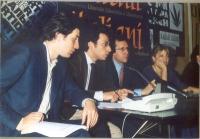 Marco Cappato, Yasha Reibman, Benedetto Della Vedova, Rita Bernardini, durante una conferenza stampa alla sede di Torre Argentina.