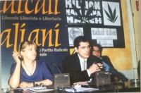 Rita Bernardini, Daniele Capezzone, durante una conferenza stampa, presso la sede di Torre Argentina.